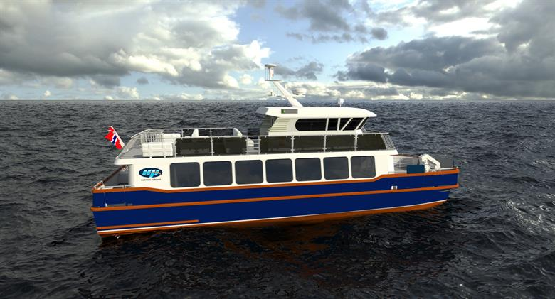 Catamaran_at sea_ Rendering